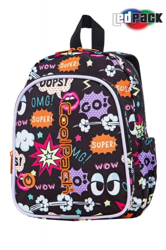 Plecak dziecięcy Coolpack Bobby Comics Led