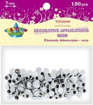 Oczy kreatywne dekoracyjne ruchome czarne 7mm 150szt.