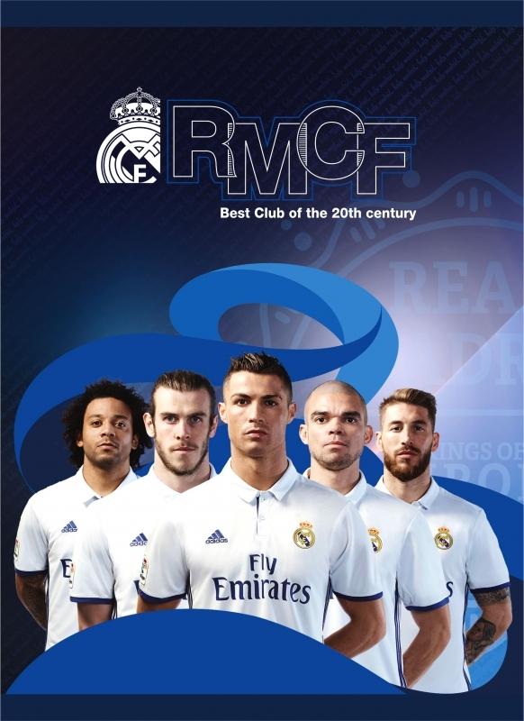 Zeszyt A5/32 kartek linia Real Madrid