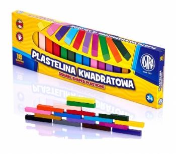 Plastelina kwadratowa 18 kolorów Astra
